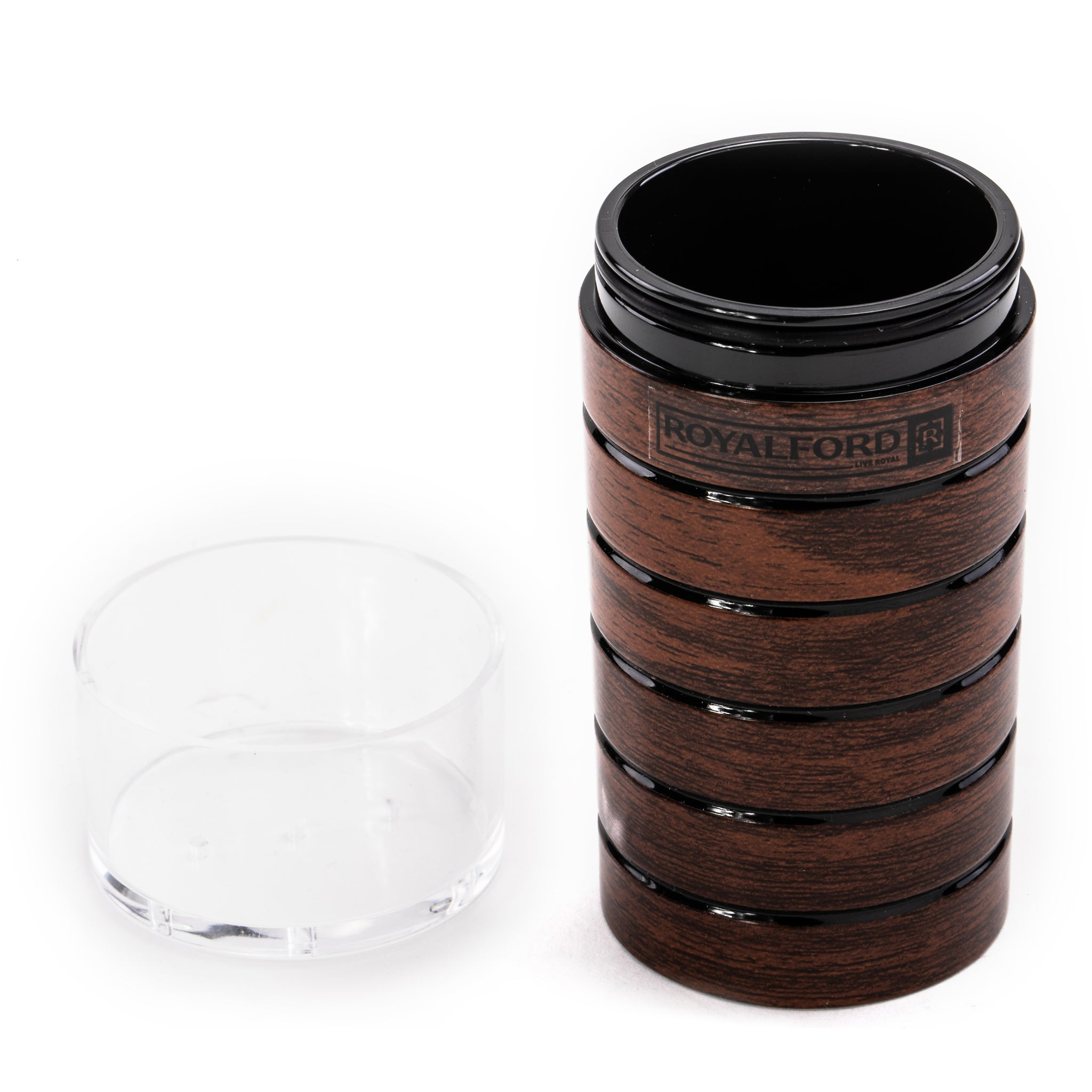 Royalford Cherry Wood Acrylic Pepper Bottle 70ml, Lightweight Pepper Mill