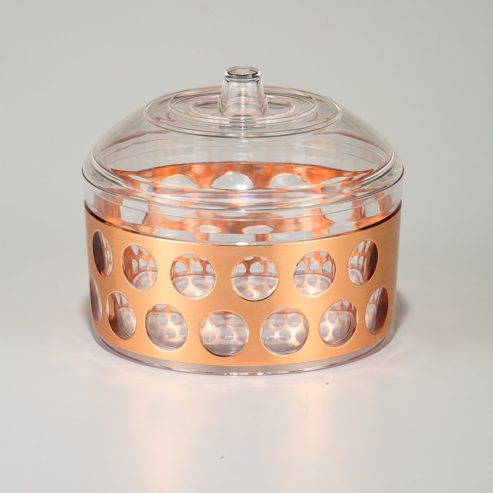 RoyalFord RF8229 Rose Gold Acrylic Candy,Pot, 810ml