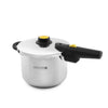 Royalford RF8606 4 Litre Stainless Steel Asat Induction Pressure Cooker - Lightweight & Durable Pressure Cooker with Lid, Cool Touch Handle and Safety Valves - Ideal for Gas and Solid Hotplates