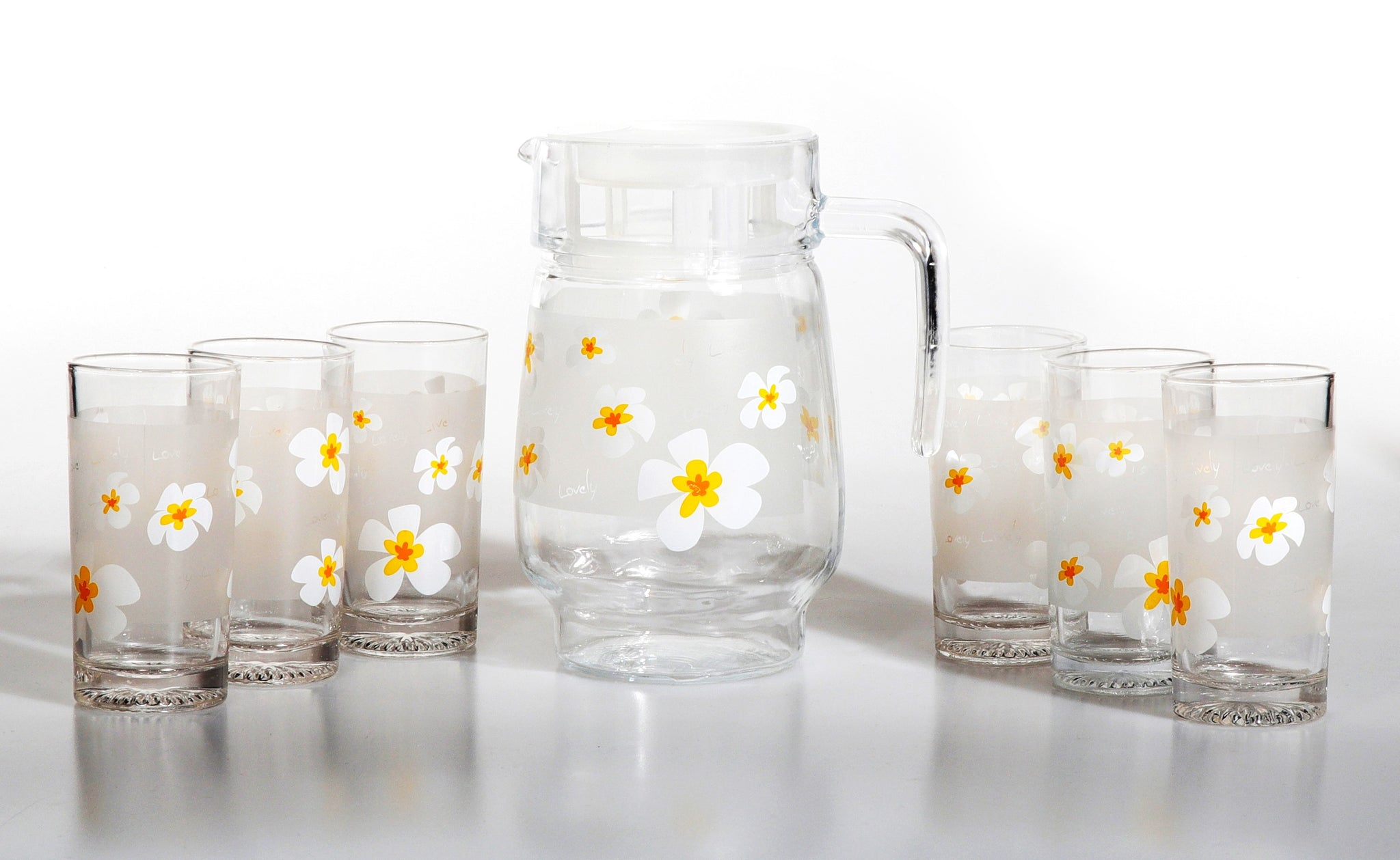 Royalford RF8718 7 Pcs Lovely Flowers Cool Water Set