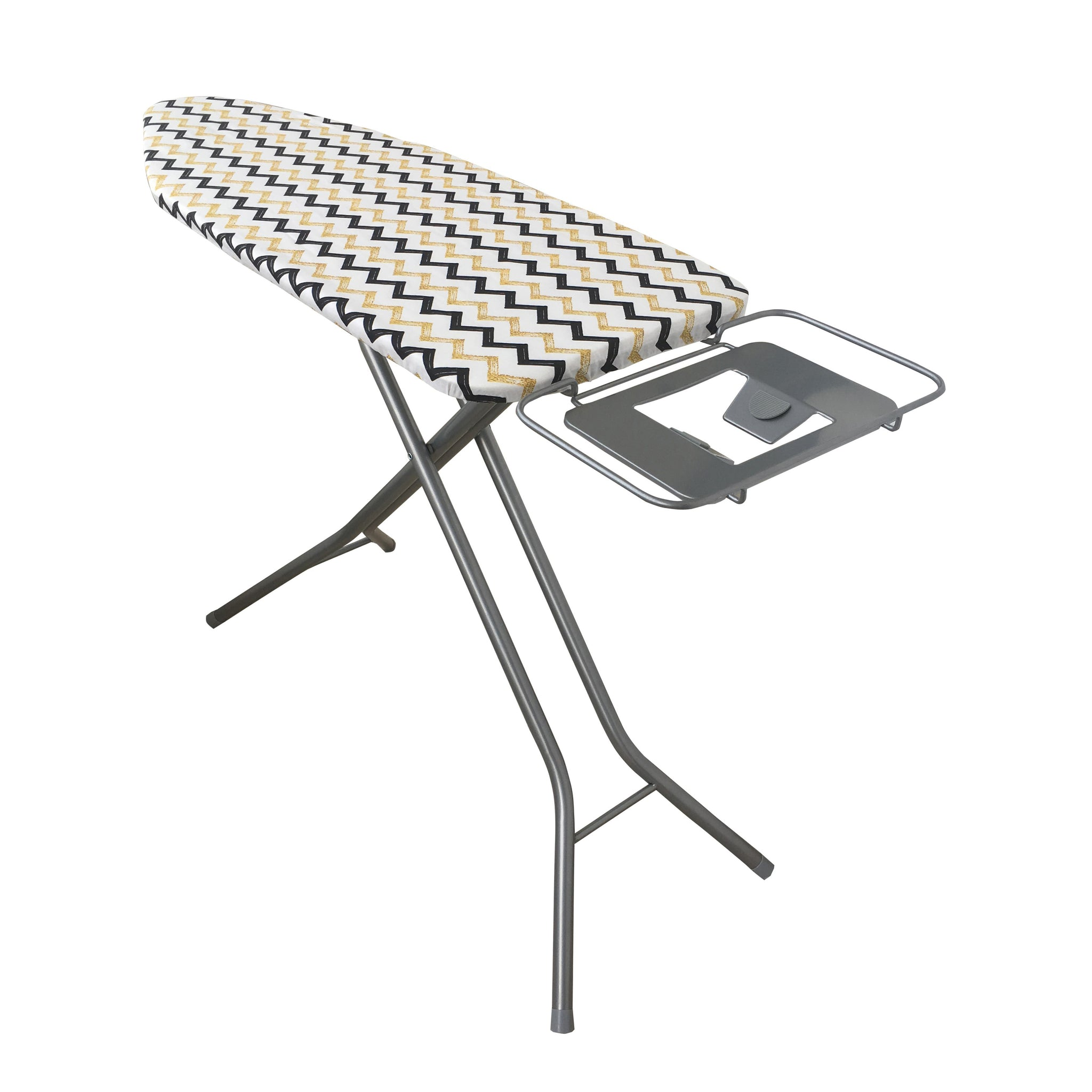 Royalford RF8735 Mesh Ironing Board 122cmx43cmx96cm- Portable, Steam Iron Rest, Heat Resistant Cover | Contemporary Lightweight Board with Adjustable Height & Rubber Feet Cover