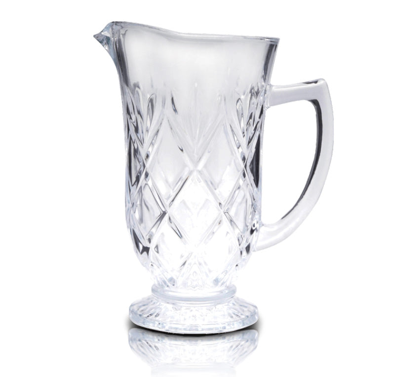Royalford RF6774 - 1 Litre Glass Water Jug - Multi-Purpose Transparent Jug with Perfect Pouring Spot | Ergonomic Handle & Lead-Free Glass | Ideal for Picnic to Carry Water Juice, & More