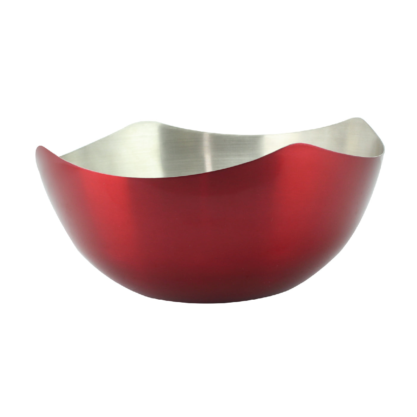 Royalford RF6938 Stainless Steel 4 Corner Lacquered Bowl, 19 CM