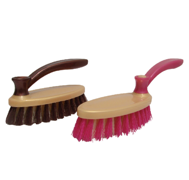 Royalford RF6991 - Cleaning Brush with Handle - Easy to Clean Hard & Stiff Bristle Brush Made of Durable Plastic Material - Floor Tile Decking Household Scrub Cleaning | (Multi-Colour)