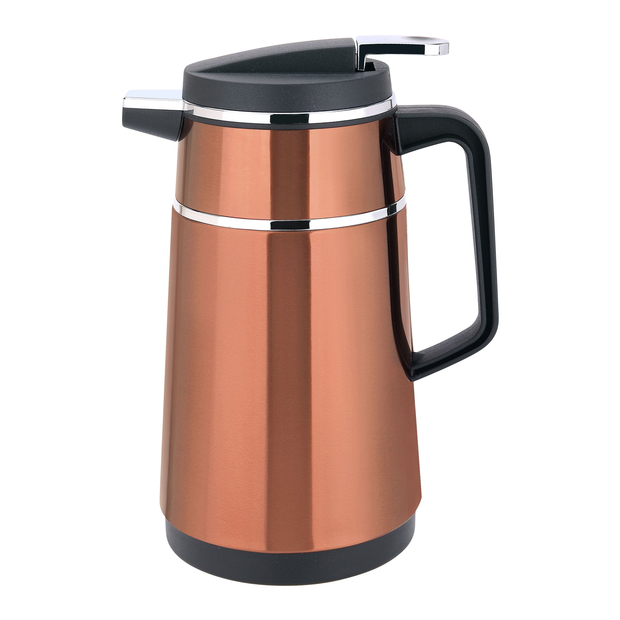 Royalford RF7840 - 1.9 Litre Stainless Steel Sienna Vacuum Flask -  Heat Insulated Thermos for Keeping Hot/Cold Long Hour Heat/Cold Retention, Multi-Walled, Hot Water, Tea, Beverage | Ideal for Social Occasion & Outings (Brown)