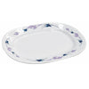 Royalford RF4807 - 14-inch Royal Thai Oval Plate  - Maggie, Soup Plates Pasta Plates | Plate with playful Classic Decoration, Dishwasher safe | Ideal for Soup, Desserts, Ice Cream & More (White)