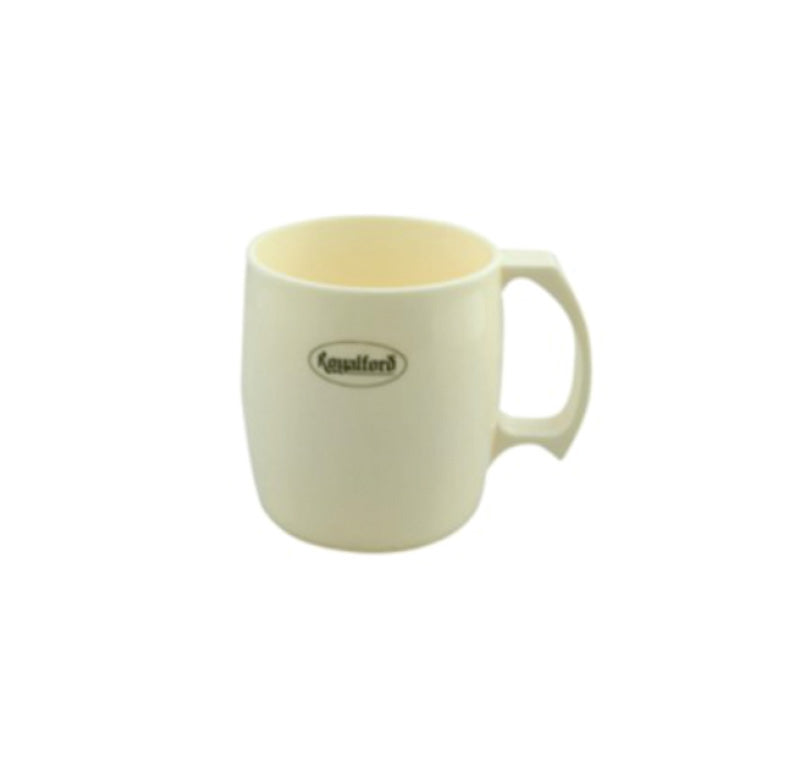 Royal ford RF5016   Porcelain Cup - Large Coffee & Tea Mug, Traditional Extra Large Tea Mug, Thick Wall Small Portable Mug | Ideal for Hot & Cold Drinks with High Grip Handle (Yellow)