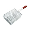 Royalford RF5597 - Stainless Steel BBQ Grill Toppers - Grate, Barbecue Burger Vegetable Sausage Food Meat Flip, Stainless Steel with Detachable Wooden Handle with Hanging Loop