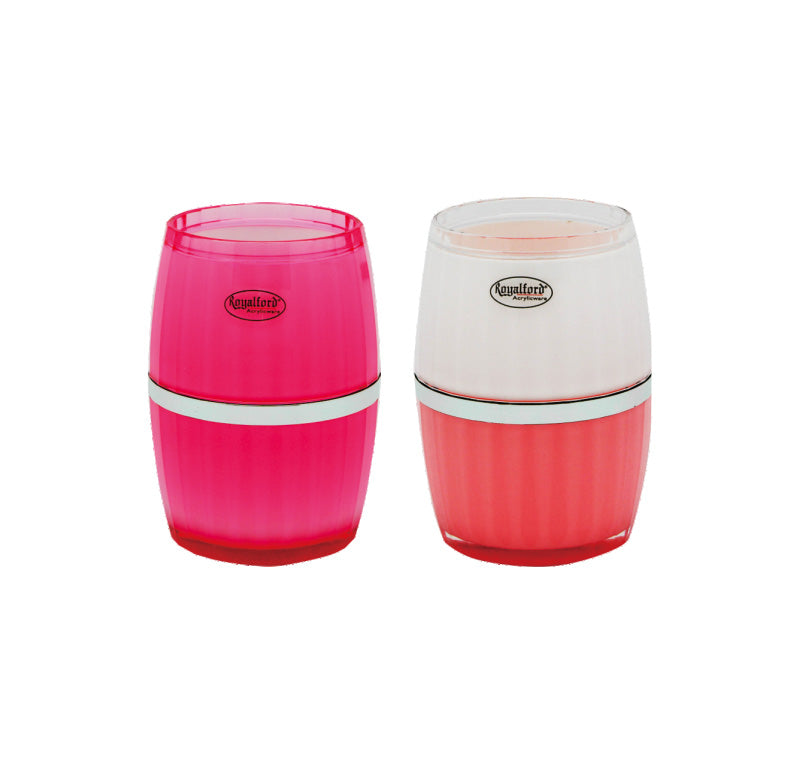 Royalford RF5747 - 15OZ Acrylic Drink Ware Glass - Water Cup Drinking Glass Lightweight | Dishwasher Safe | Ideal for Party Picnic BBQ Camping Garden | Pink
