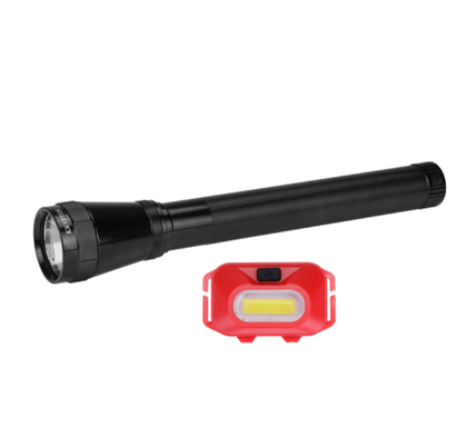 Rechargeable Waterproof LED Flashlight - High Power Flashlight Super Bright CREE LED Torch Light - Built-in 1900mAh Battery - Powerful Torch for Camping Hiking Trekking Outdoor | 2 in 1