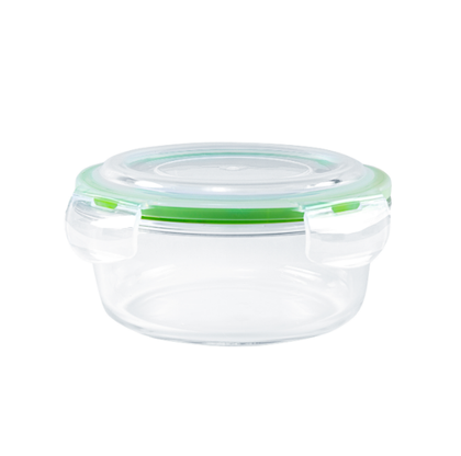 Royalford RF9503 950ml Round Glass Meal Prep Container | Reusable, Airtight Food Storage box | Microwavable, Freezer, Oven & Dishwasher Safe| Use for Storage Food Container Bento Lunch Box