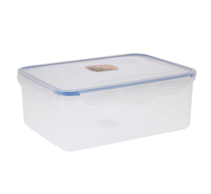 Royalford RF413APB Food Storage Container | Transparent 2600ml Container | BPA Free, Reusable, Airtight Storage Box with Snap Locking Lid | Microwavable, Freezer & Dishwasher Safe| Meal Prep Bento Lunch Box