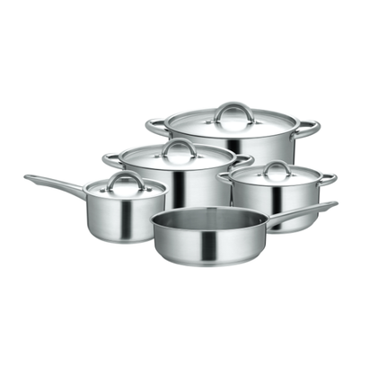 Royalford RF9798 Stainless Steel Cookware Set Induction, Multi-Colour, RF9798, 9 Pieces