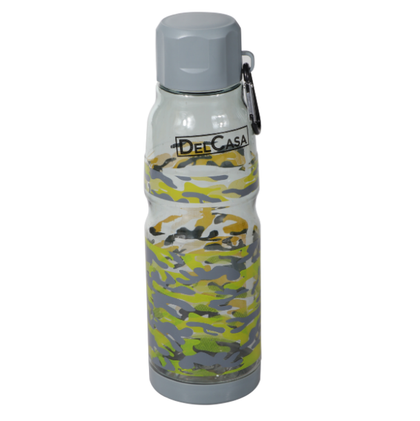 Delcasa DC1348 700ML  Water Bottle - Portable Cap - Lead Free Water Bottle, Travel Flask | Air Tight & Leak Proof | Dishwasher Safe | Leak-Proof Lids | Ideal for Indoor & Outdoor