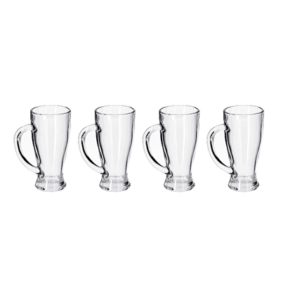 Delcasa 4PC Water/Juice Hiball Glasses - Juice Drinking Tall Glasses, 14oz/420ml - Pint Glasses for Drinking Water /Juice /Milkshakes /Cold Beverages /Soft Drinks - Perfect for Home, Restaurants & Parties