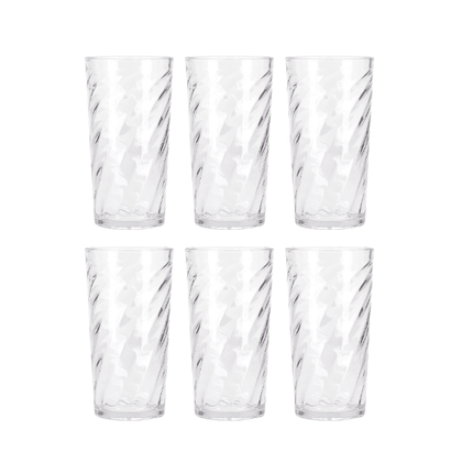Delcasa 6PC Tumbler Glass Set,  7oz/210ml - Honey Comb Tumbler Glass for Drinking Water /Juice /Milkshakes /Milk /Hot Beverages - Transparent, Broad Mouth - Perfect for Home, Restaurants & Parties