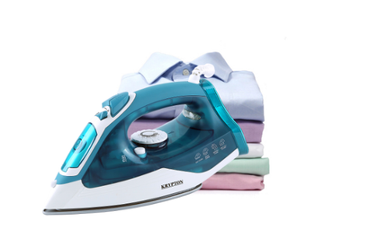 2000W Non-Stick Soleplate Steam Iron, Powerful Wet & Dry Steam Iron with Self Clean Function