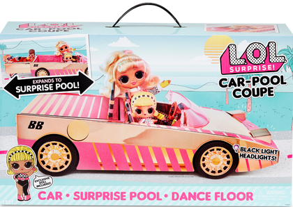 LOL Surprise! Car-Pool Coupe with exclusive doll, surprise pool and dance floor