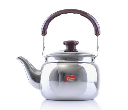 Royalford 0.75 Litre Stainless Steel Tea Kettle - Portable Lightweight Coffee, Tea Kettle with Lid Long pouring Spot | Keeps Hot/Cold Beverages for Long Hours | Ideal for Water, Tea, Coffee & More