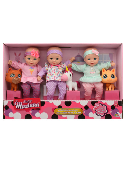 Baby Maziuna Little Sweeties w/Pets