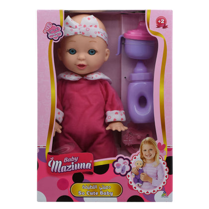 Baby Maziuna - So Cute Baby Doll - Pink & Purple Asst.