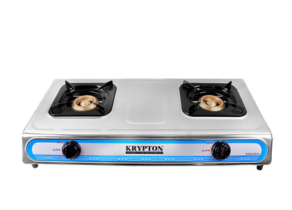 Stainless Steel Double Gas Burner with 2 Burner| Stainless Steel Frame | Low Gas Consumption| Efficient Heating Gas Burner