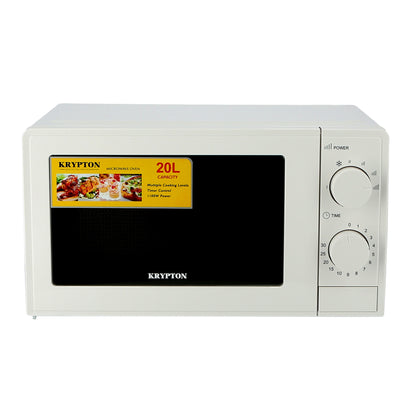 700W Microwave Oven, 20L with 5 Power Levels and 30 Minute Timer, 20 Liter Capacity