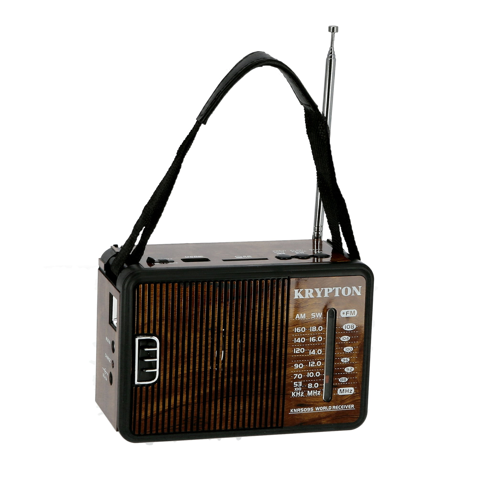1000mAh Rechargeable Radio | BT/USB/SD/BT | Excellent Sound Quality | Lightweight Portable FM Radio | 8 Bands Radio | Stylish Retro Design