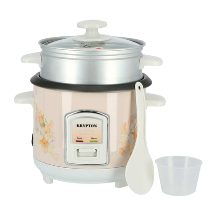 350W 0.6L Rice Cooker with Steamer | Non-Stick Inner Pot, Automatic Cooking, Easy Cleaning, High-Temperature Protection - Make Rice & Steam Healthy Food & Vegetables - 2 Year Warranty