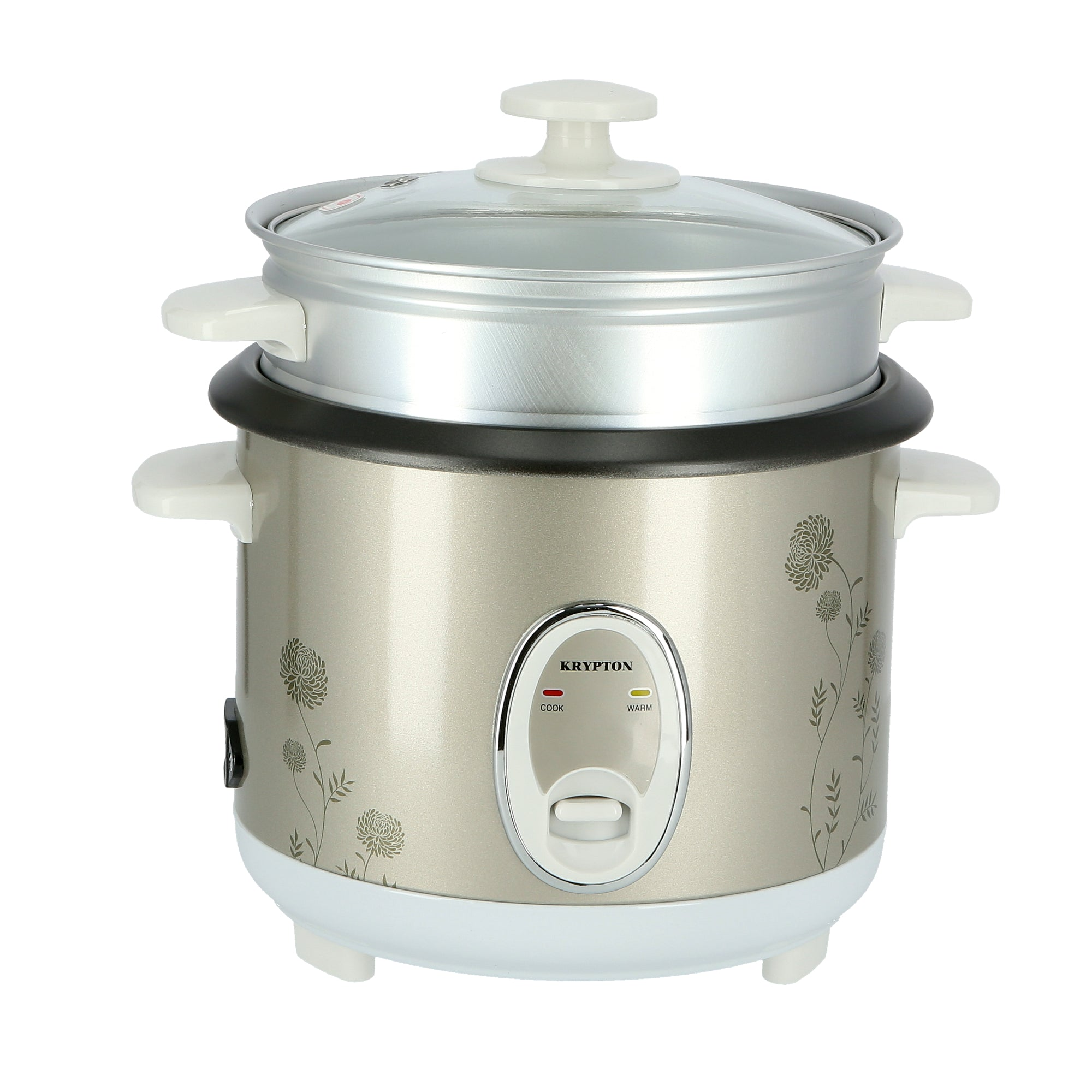 400W 1 L Rice Cooker with Steamer | Non-Stick Inner Pot, Automatic Cooking, Easy Cleaning, High-Temperature Protection - Make Rice & Steam Healthy Food & Vegetables - 2 Year Warranty