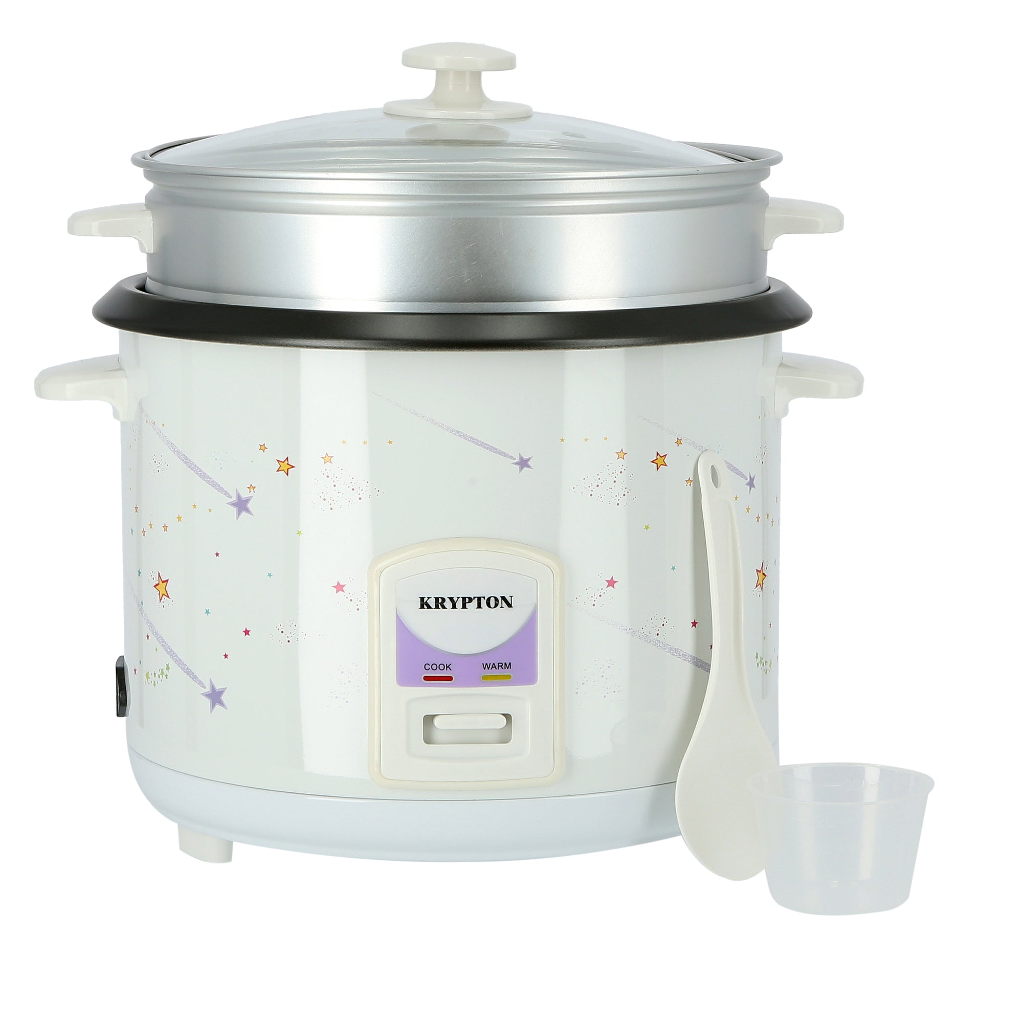 1000W 2.8L Rice Cooker with Steamer | Non-Stick Inner Pot, Automatic Cooking, Easy Cleaning, High-Temperature Protection - Make Rice & Steam Healthy Food & Vegetables - 2 Year Warranty