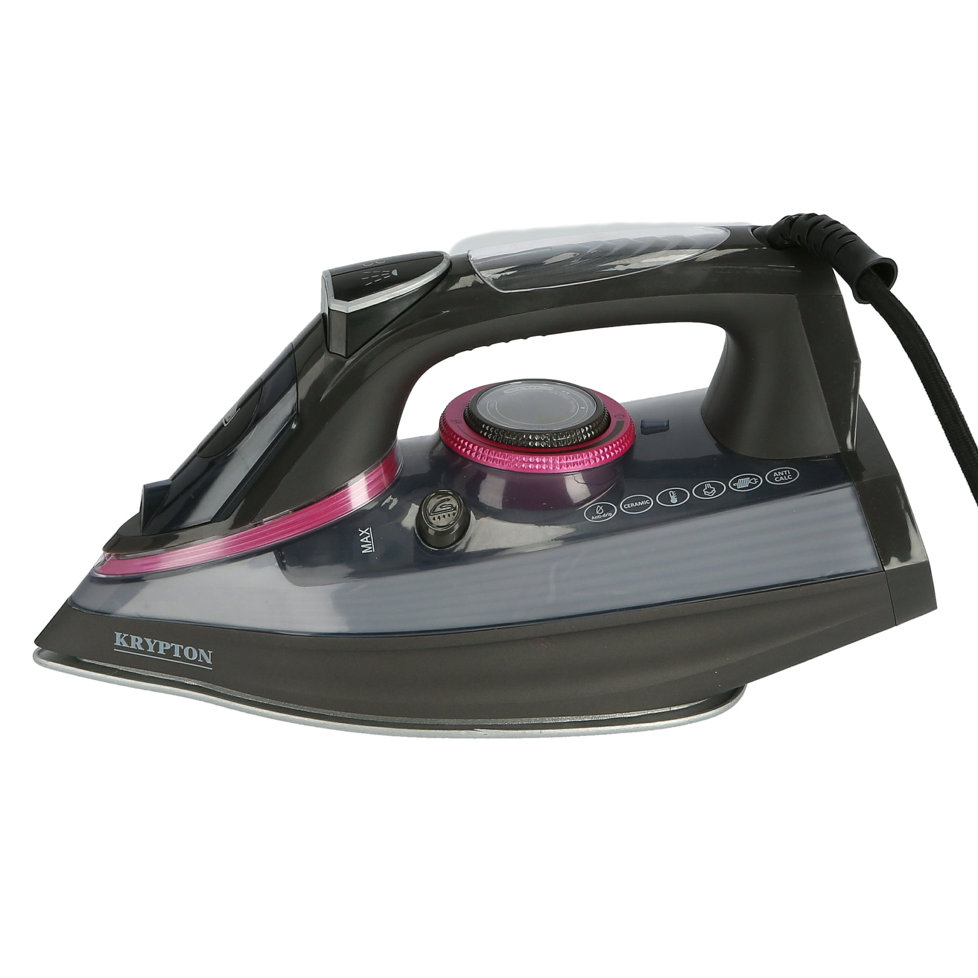 2400W Non-Stick Soleplate Steam Iron, Powerful Wet & Dry Steam Iron with Self Clean Function