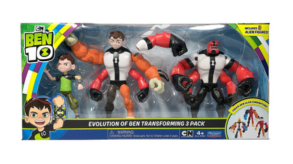 Ben 10 EVOLUTION OF BEN TRANSFORMING 3PK
