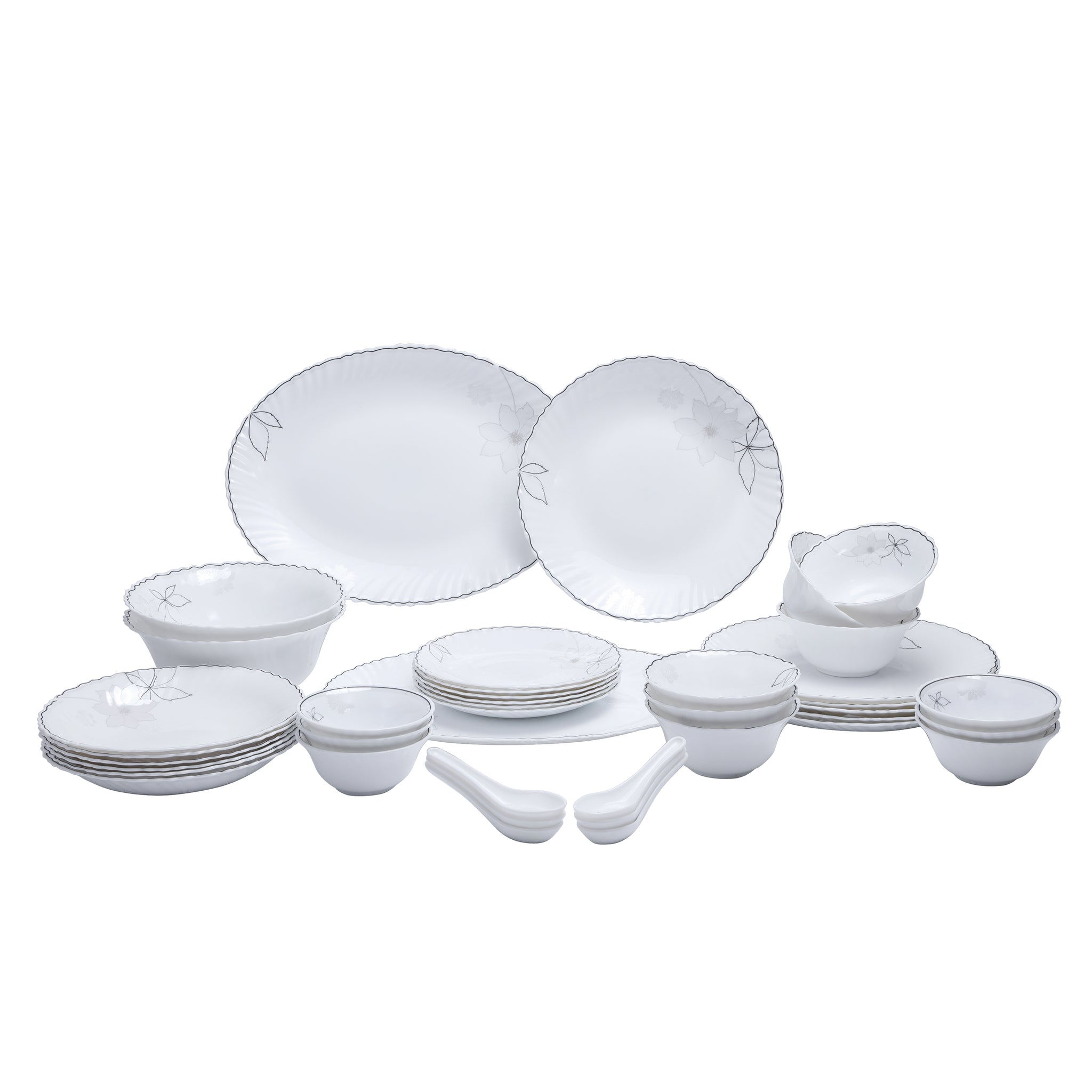 40 Pcs Opal Glassware Dinner Set 1X1