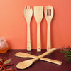 Royalford RF5110 5 Pcs Bamboo Kitchen Tools Set - Wooden Solid Turner, Spatula, Slotted Spoon & Turner Kitchen Essentials Cooking Utensils Tool Set | Cutlery Set for Natural and Eco-Friendly Cooking Tools