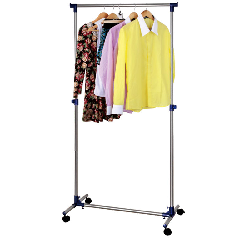 Royalford RF6299 Stainless Steel Garment Cloth Dryer Rack - Adjustable Garment Coat Rack, Hanging Rail Clothes Stand with Casters | Portable Lightweight | Ideal for Home Office, Hallway, Bedroom