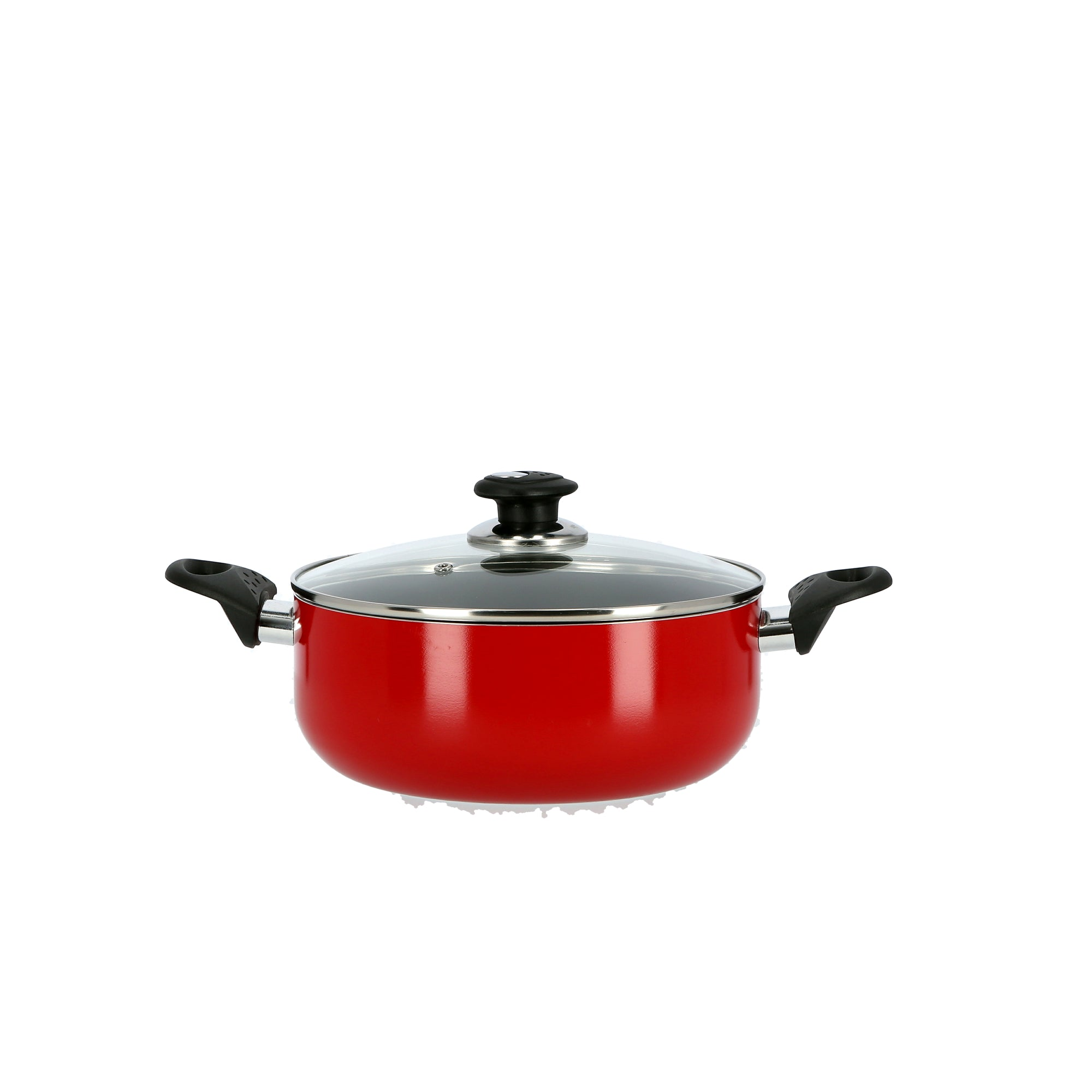 Royal ford RF6440   Non-Stick Ceramic Casserole with Glass Lid 24 cm- Durable Non-stick Coating, High-Quality Construction with Comfortable Resistant Handle | Non-Stick Dish for Gas, Induction & Ceramic Hobs