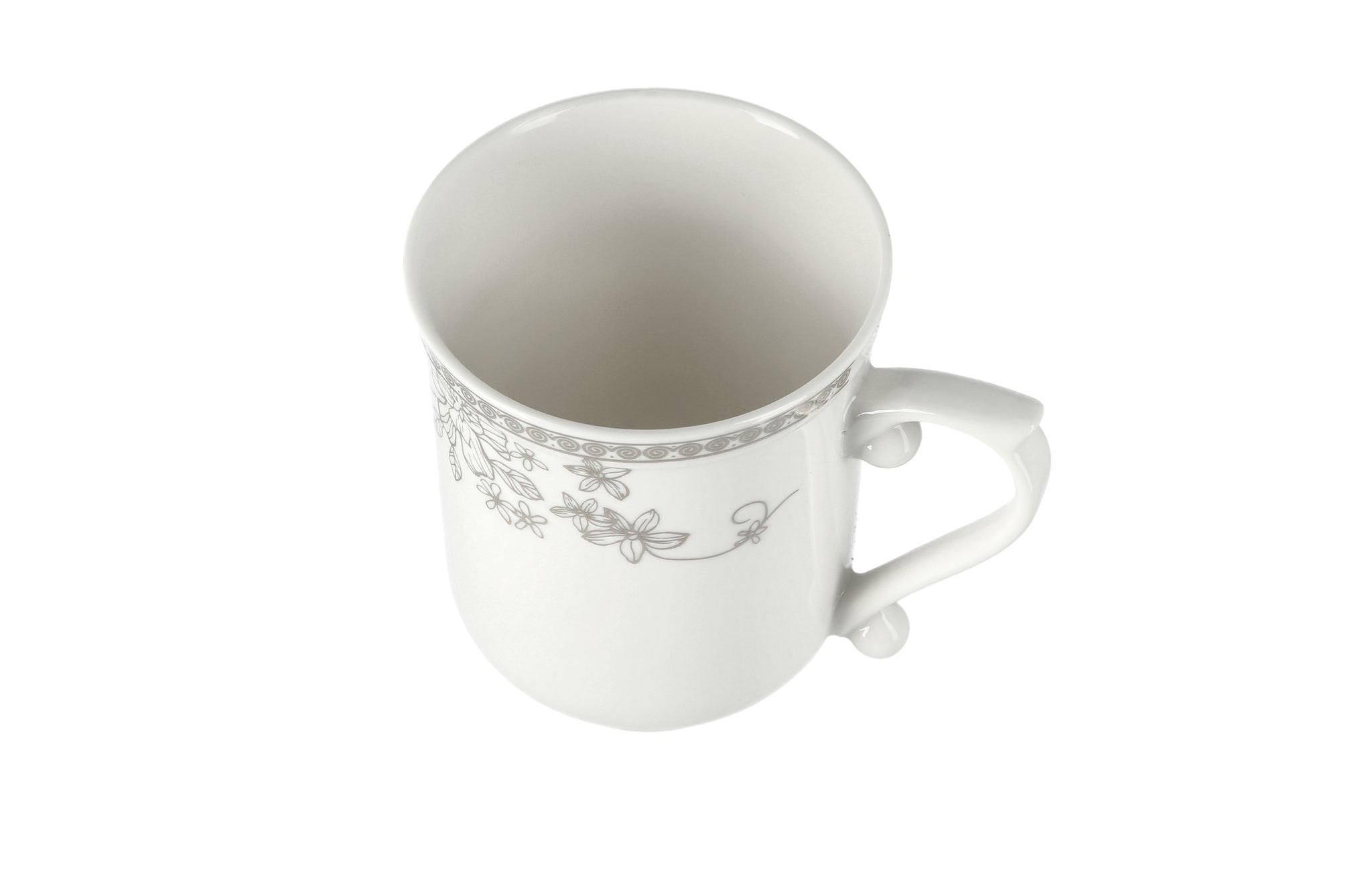 Royalford RF6688 14Oz Bone Wave Coffee Mug - Large Coffee & Tea Mug, Traditional Extra Large Tea Mug, Thick Wall Small Portable Mug | Curved Loop Handle | Ideal for Hot & Cold Drinks