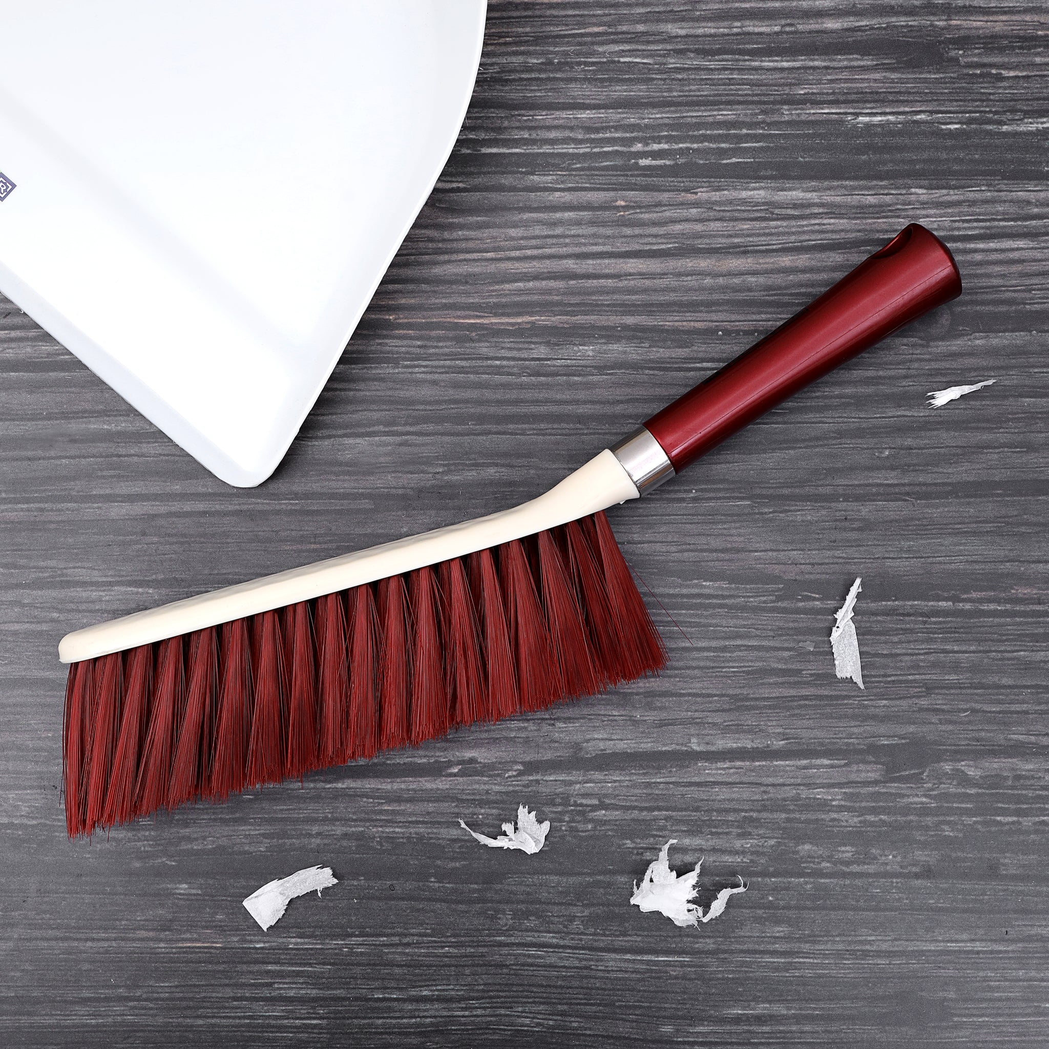Royalford RF7000  Dust Brush - Durable Household Hand Scrub Brush with Dense Stiff Bristles | Hanging Loop | Ergonomic & Non-Slip Grip for Sweep, Cleaning, & Removing Dust from the Surface