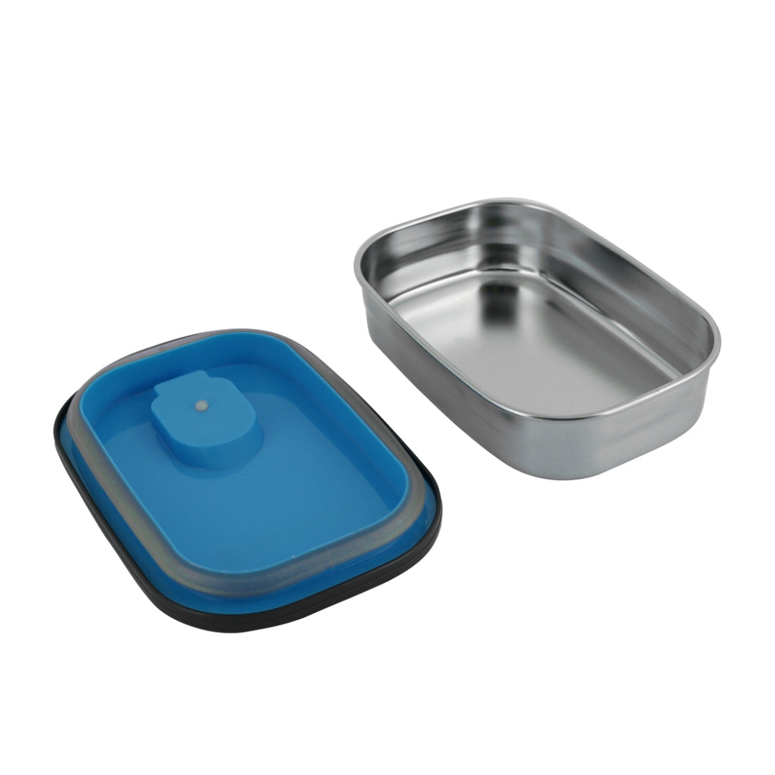 Royalford RF7014 Rectangle Stainless Steel Food Container, 680ML