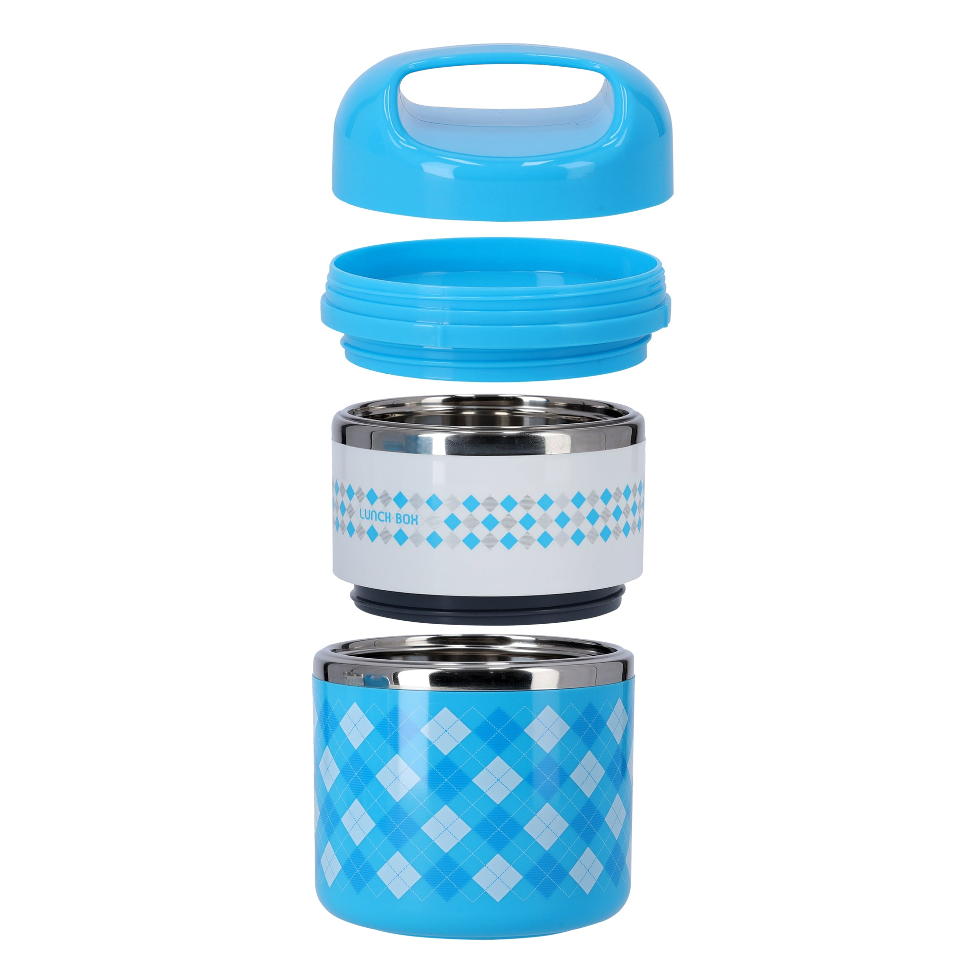 S/S Two Layer Food Container/930Ml 1X24