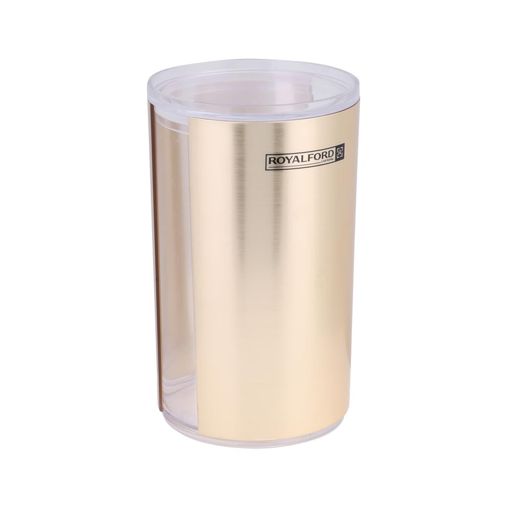 Royalford RF8211 Solid Gold Acrylic Window Canister, 770ml