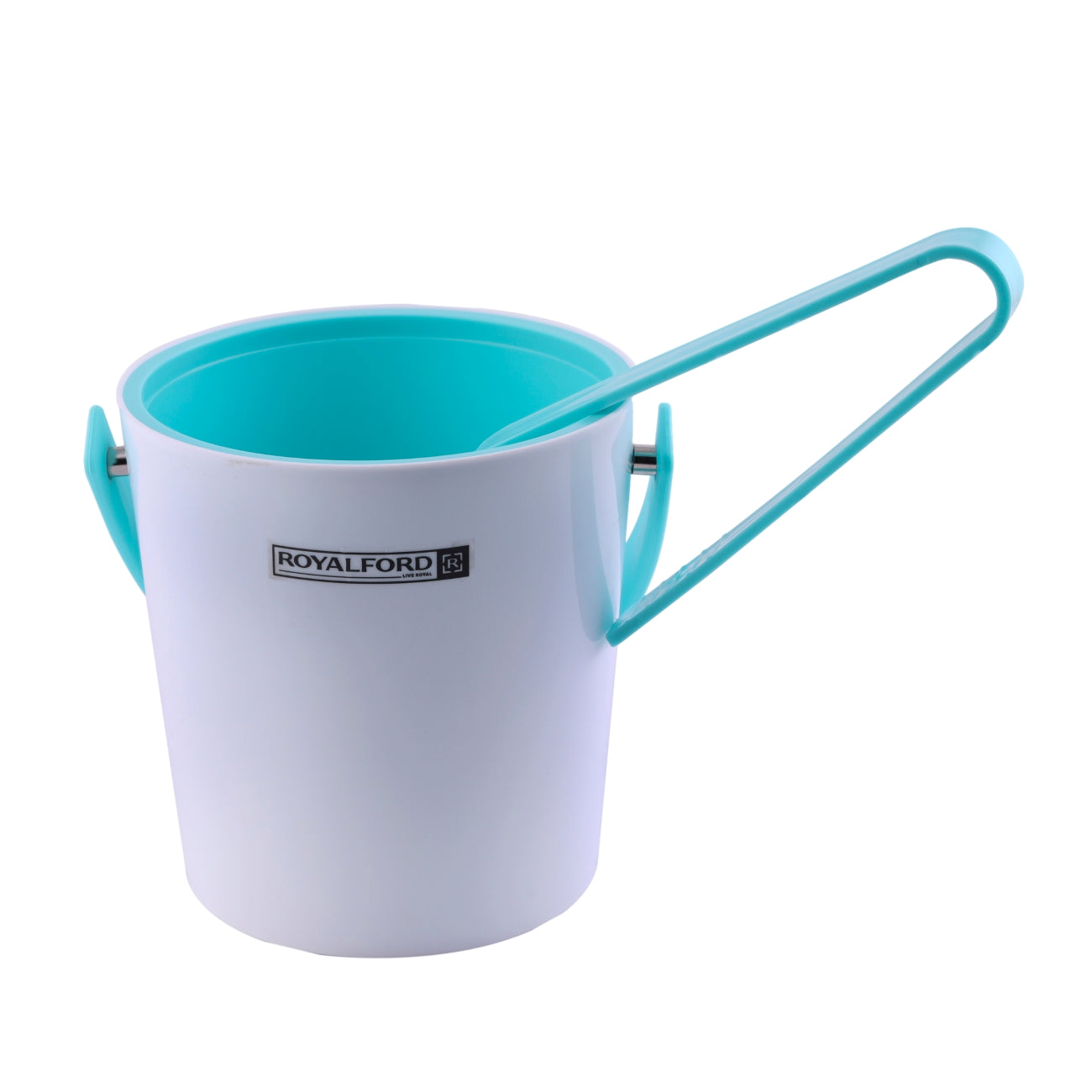 Royalford RF8696 Ice Bucket - Thick Walled Ice Bucket with Ice Tongs, Lid | Large Insulated Ice Cube Bucket with Carry Handle Ideal for Parties, Cocktail, Bottle Wine Cooler Drinks Holder
