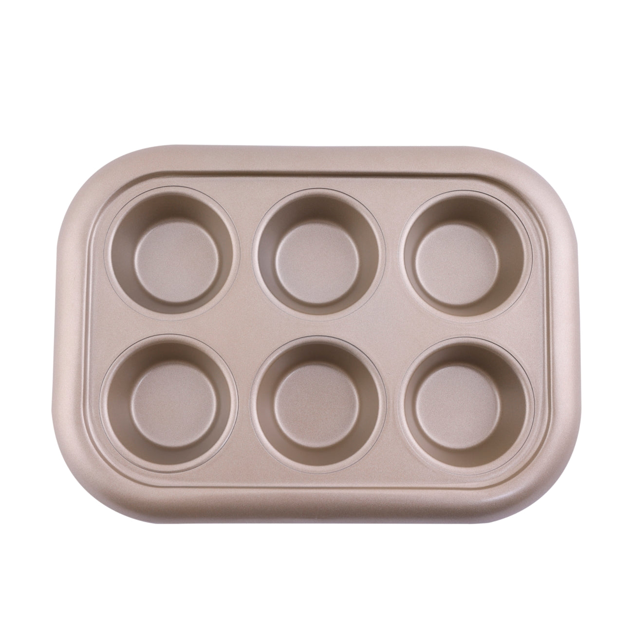Royalford RF8792 Premium Non-Stick Muffin Tray, 6 Cup - Cupcake Tray/Baking Pan - Carbon Steel Build, Non-Stick Mince Pie/Cupcake Tin - Ideal for Cupcakes Muffin Pie Yorkshire Pudding Baking - 0.5mm Thick