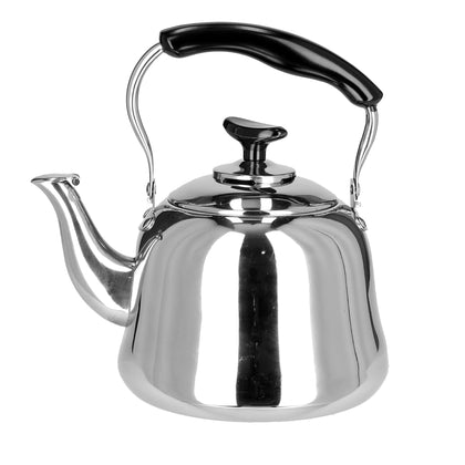 Royalford RF9563 1L Stainless Steel Whistling Kettle - Portable Whistling Tea Kettle with Heat Resistant Handle | Ergonomic Pouring Spout | Compatible with Gas, Induction, Hot Plate, Halogen, & Ceramic Tops