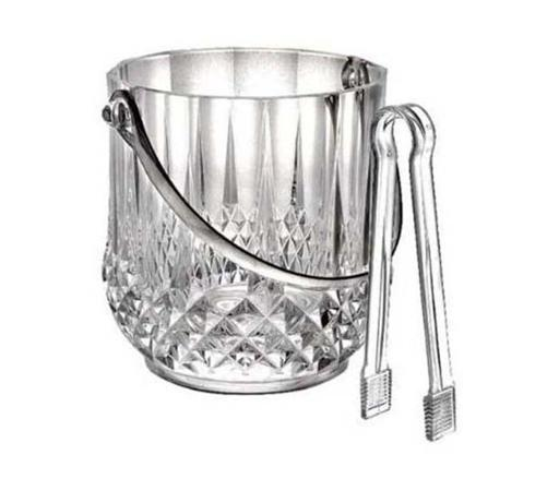 Royalford RF7378 Transparent Ice Bucket with Tong
