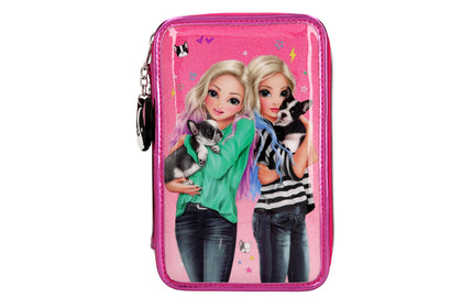 TOPModel Filled Pencil Case Triple Friends Pink