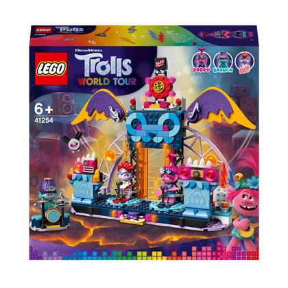 LEGO Trolls World Tour Volcano Rock City Concert 41254, Cool Trolls Toy Building Kit for children, New 2020 (387 pieces)