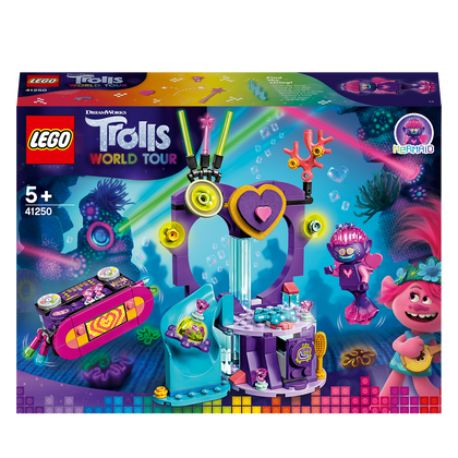 LEGO Trolls World Tour Techno Reef Dance Party 41250 Construction Kit, Awesome Trolls Game for Creative Game, New 2020 (173 pieces)