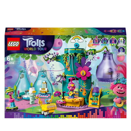 LEGO Trolls World Tour Pop Village Celebration 41255 Trolls Tree House Building kit for children, new 2020 (380 pieces)